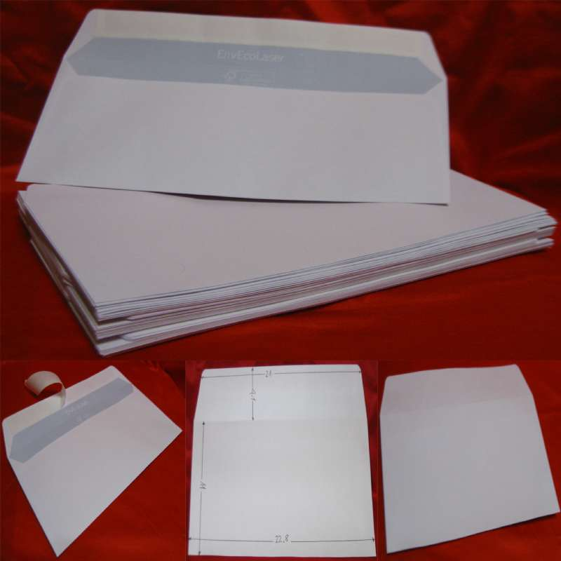 Stock 500 buste bianche senza finestra autoadesive 11x23 - Buste 11x23 senza finestra ...
